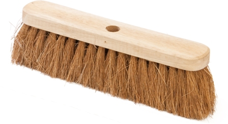 "BRUSH BROOM HEADS - SOFT NATURAL COCO 12""/30cm (4)"