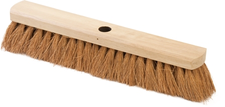"BRUSH BROOM HEADS - SOFT NATURAL COCO 18""/46cm (2)"