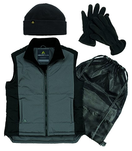 BODYWARMER PACK BLACK/GREY - EXTRA LARGE